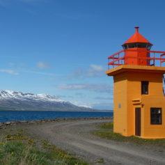 Baai bij Akureyri
