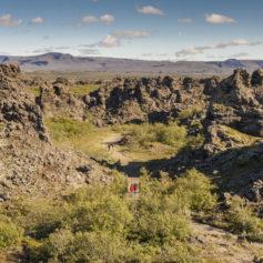 Dimmuborgir, bij Mývatn