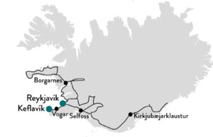 Route Zuid-IJsland voor alle seizoenen in lente en zomer