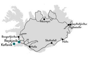 Met de veerboot naar IJsland met eigen vervoer