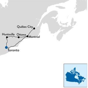 rondreis in Oost-Canada