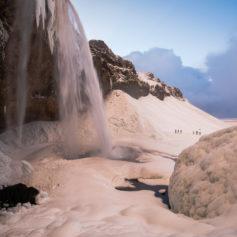 Seljalandsfoss bevroren waterval