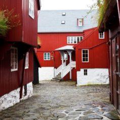 Het oude gedeelte van Tórshavn, hoofdstad Faeröer