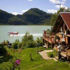 watervliegtuig Redoubt Bay Lodge Alaska