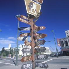 Wegwijsbord in Anchorage, Alaska